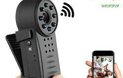 Clip WIFI SPY piilotettu linssi kamera, Nightvision, SD Max 64G, 300mAh akku - 1 250px