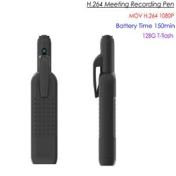 HD Pen Meeting Camera DVR, SD Max 128G, 2.5Hrs-1