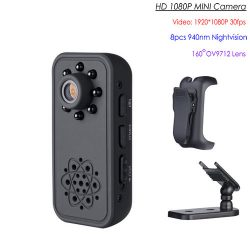 HD SPY Hidden Mini Camera, Super Nightvision, Detection Motion, Batiri 3Hrs - 1