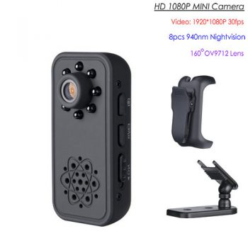 I-SP SPY Ikhamera ye-Mini efihliweyo, i-Super Nightvision, i-Motion Detection, iBattery 3Hrs - 1