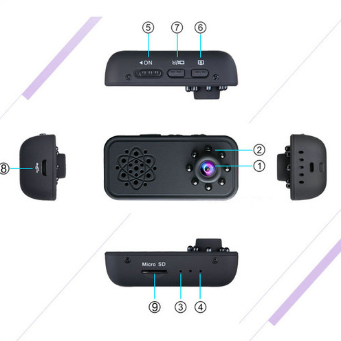 HD SPY Hidden Mini Camera, Super Nightvision, Motion Detection, Battery 3Hrs - 4