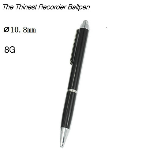 Voice Recorder Ballpoint Pen, Battery 13 Hours, 8G - 1