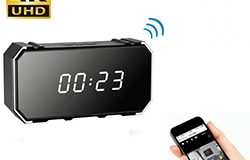 4K Mirror Clock Camera, HD4K2K1080P, 8pcs IR Mo Nightvision, Card SD Max 128G - 1 250px