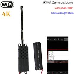 4K WIFI Pinhole Camera, 4K/2K/1080P, Recording 35 Hrs, SD Card Max 128G (SPY260)