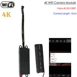 Camera OMH WIFI Pinhole, 4K / 2K / 1080P, Registrazione 35 Hrs, Card SD Max 128G (SPY260)