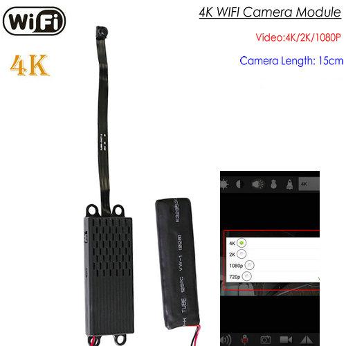 OMG WIFI -reikäkamera, 4K / 2K / 1080P, tallennus 35 tuntia, SD-kortti Max 128G (SPY260)