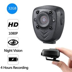 Clip Camera DVR, Super Nightvision, Battery Rec 4hours, ສ້າງໃນ 32G-1