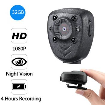 Clip Camera DVR, Super Nightvision, Battery Rec 4hours, Tógáil i 32G - 1