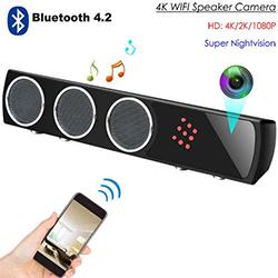 WiFi Bluetooth Speaker SPY Nakatagong Camera, HD 4K / 2K / 1080P, Super Nightvision (SPY263) - S $ 328