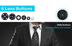 WiFi SPY Button Camera, Bumuo sa 600mAh baterya 1080P, H.264 - 1 250px