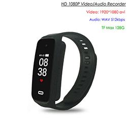 Wristband Spy Hidden Camera, TF Max 128G, Oras ng Rec Recycle 90min (SPY258) - S $ 168