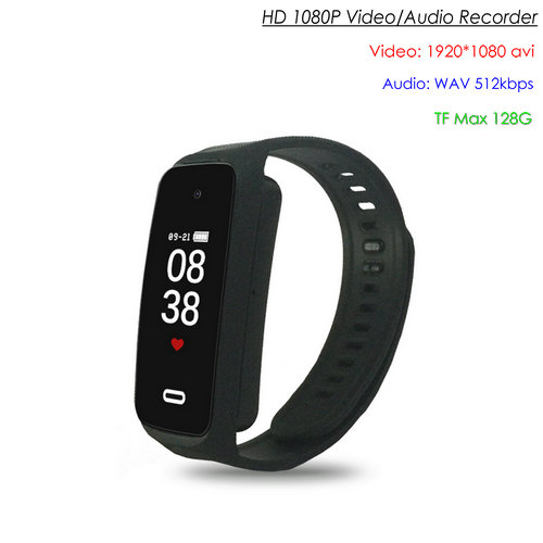 Wristband Spy Hidden Camera, TF Max 128G, Battery Rec Time 90min - 1