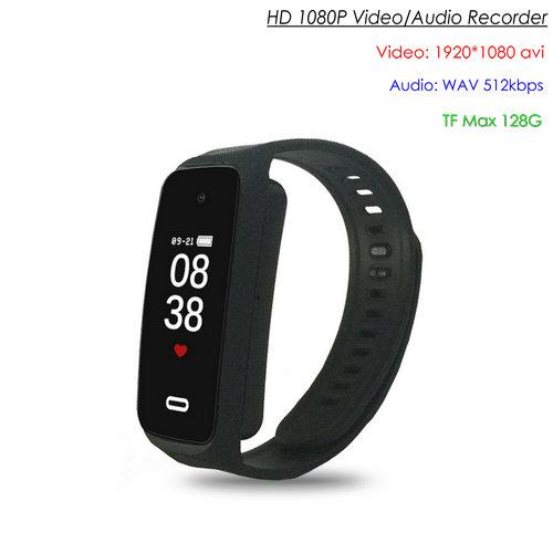 I-Wristband Hlola ikhamera efihliweyo, i-TF Max 128G, i-Battery Rec Time 90min-1