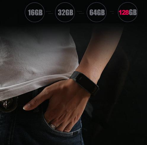 Wristband Spy हिडन कॅमेरा, टीएफ मॅक्स 128G, बॅटरी रिक टाइम टाइम 90min - 5
