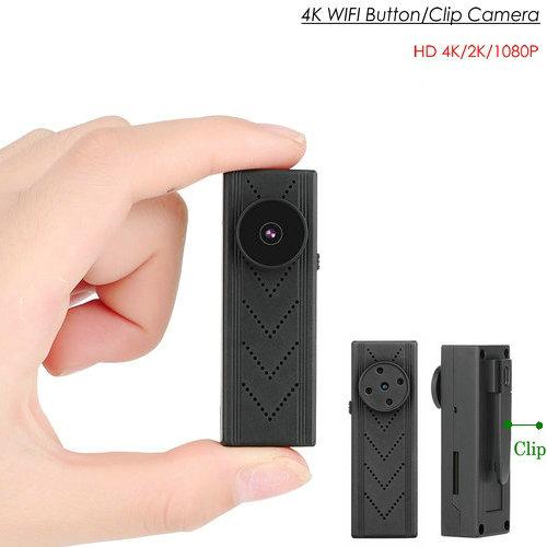 OMG WIFI -painike / clip kamera 4K / 2K / 1080P, SD-kortti Max 128GB, akku 60min (SPY273)