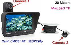 Veden kameran DVR, kaksoiskamera, 4.3-tuumainen LCD-näyttö, 720P & 480P, 20meters - 1 250px