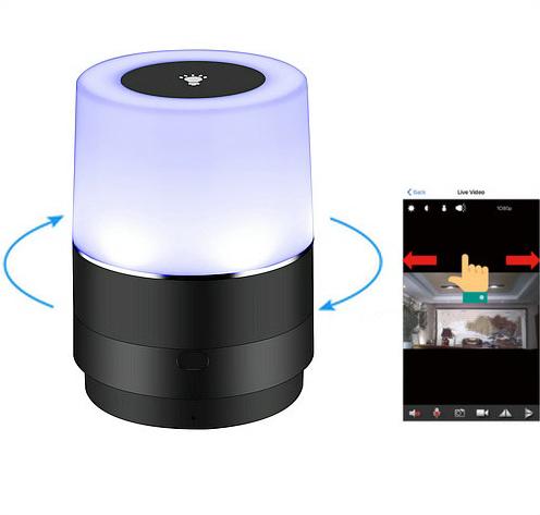 وائی فائی چراغ کیمرے، ایچ ڈی 1080P، 180 ڈگری کیمرے گردش، سپر نائٹ ویژن - 7