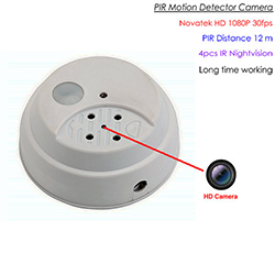 HD PIR Camera, 1080P / 30fps, PIR Sensor, Nightvision, Kāri SD Max 128GB, Batiri Whakaara 90days (SPY282) - S $ 178