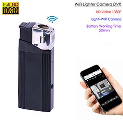 WIFI Lighter Camera, HD1080P, 1.3M OV9712 Camera, Battery Time 50min, SD Card Max 128G (SPY279)