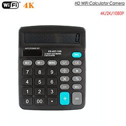 4K WIFI Calculator Camera, Suporta Max SD Card 128GB (SPY286) - S $ 188