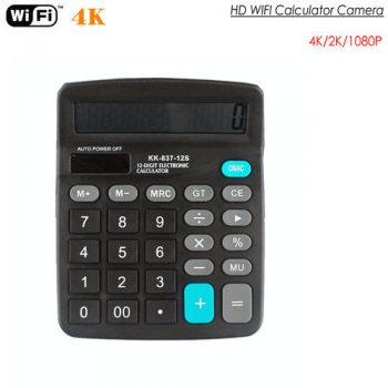 4K WIFI Calculator Camera, Suporta Max SD Card 128GB - 1