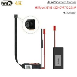 4K WIFI相機模塊,HiSilicon 3518E V200,OV9712 2.0MP,無夜視 -  1