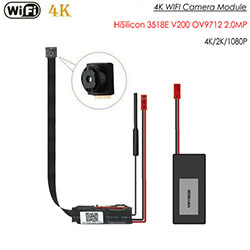4K WiFi Pinhole Camera, Walang Nightvision (SPY285) - S $ 298