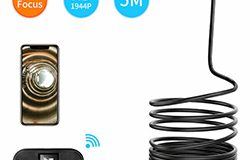 Aunoa Whakanoho WIFI Kamupene Endoscope, 5.0MP, HD1994P, 3.5M14.2mm, 4pc LED, 2600mAh - 1 250px