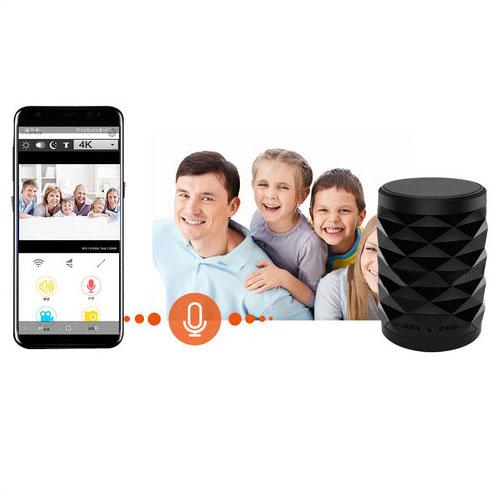 4K WiFi ब्लूटूथ स्पीकर लॅम्प कॅमेरा टू-वे टॉक - 9