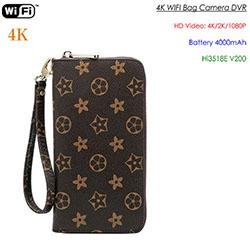 4K WIFI SPY piilotettu laukku, 4000mAh-akku, SD-kortti Max 128G (SPY295) - S $ 248