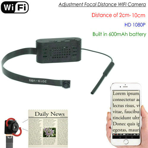 Pagsasaayos ng focal distance WIFI Camera Module, HD1080P, Focal 2cm-10cm, 600mAh - 1
