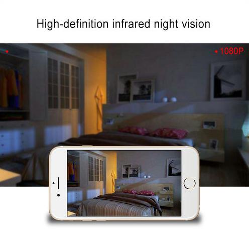 WIFI Ժամացույցի Լուսանկարը Շրջանակ Camera, HD1080P, Ժամացույցի գործառույթը, TF Max 128G, 3500mAh մարտկոցը - 6