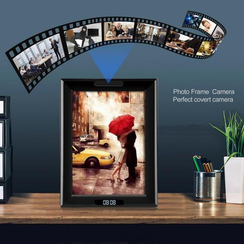 WIFI Ժամացույցի Լուսանկարը Շրջանակ Camera, HD1080P, Ժամացույցի գործառույթը, TF Max 128G, 3500mAh մարտկոցը - 9