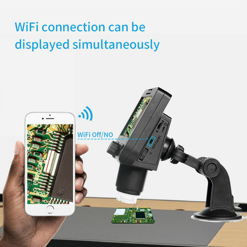 WIFI Microscope Kāmera, 4.3inch LCD, Camera 2.0MP, 8pcs White White, 50-1000X - 2