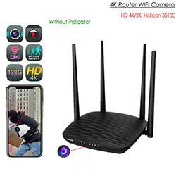 SPY296 - 4K WIFI Camera Router, HD 4K / 2K, Huarere 3518E, 2.0MP Camea, TF Max 128G - S $ 328