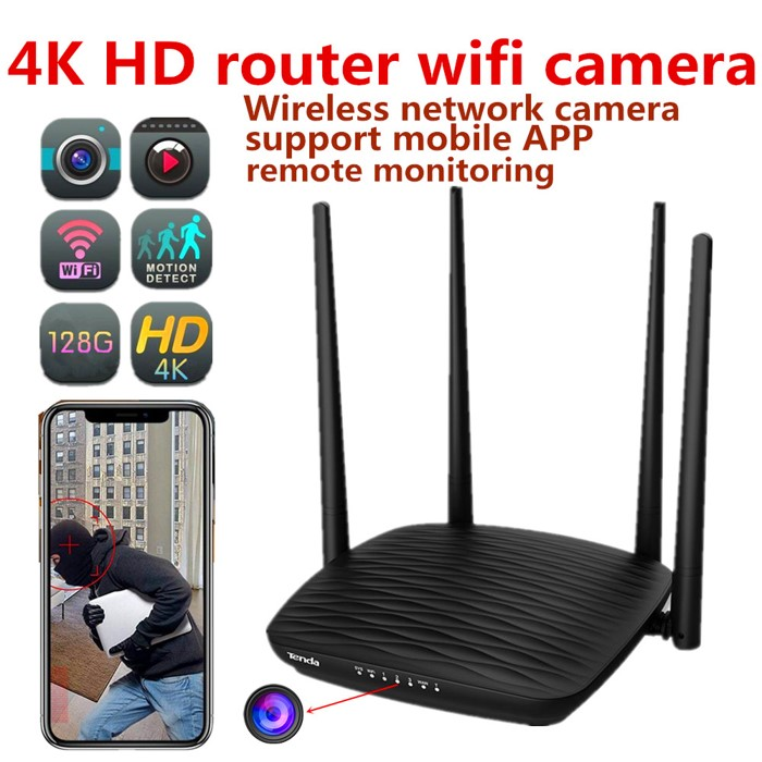 SPY296 - 4K WIFI Router Camera, HD 4K2K, Hisilicon 3518E, 2.0MP Camea,TF Max 128G 01- 700x