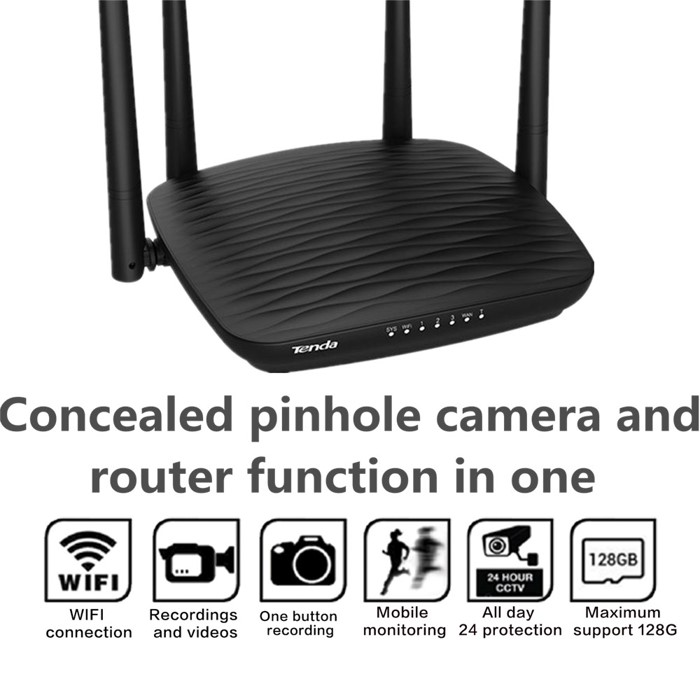 4K WIFI Router Camera, HD 4K/2K, Hisilicon 3518E, 2 0MP