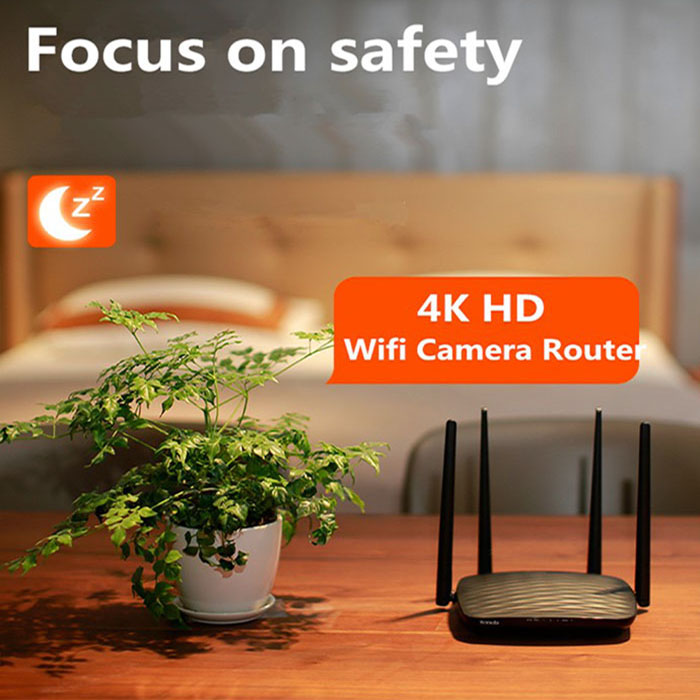 SPY296 - 4K WIFI Router Camera, HD 4K2K, Hisilicon 3518E, 2.0MP Camea, TF Max 128G 06-700x