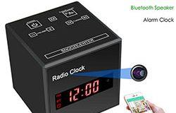 SPY297 - WiFi Clock Camera, WiFi Camera + Clock + Bluetooth Speaker + FM Radio, Nightvision 01 - 250x