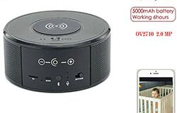 SPY300 - WiFi Speaker Camera, Wireless Charger + Bluetooth Speaker 00