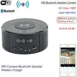 SPY300-WIFI Speaker Camera, Wireless Charger + Speaker Bluetooth 00