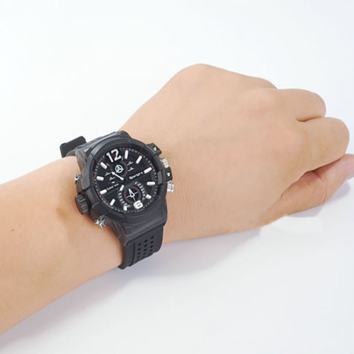 SPY301 - Low illumination 2K Watch Camera,HD1296P 30fps, H.264 MOV, Built in 16G, Waterproof 08
