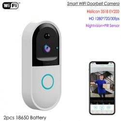 SPY303 - WIFI Smart Doorbell Camera, Hisilicon 3518E Chipset, PIR-sensor, Nightvision, Two-way Talk 01
