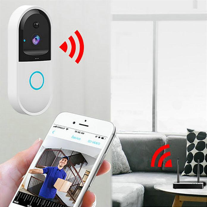 SPY303 - WIFI Smart Doorbell ֆոտոխցիկ, Hisilicon 3518E չիպսեթ, PIR ցուցիչ, Nightvision, երկկողմանի խոսակցություն 06