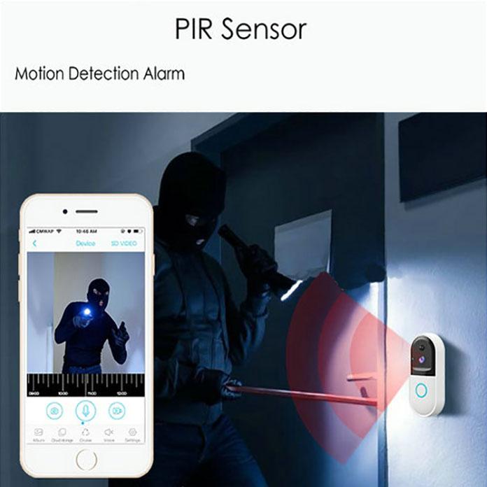 SPY303 - WIFI Smart Doorbell ֆոտոխցիկ, Hisilicon 3518E չիպսեթ, PIR ցուցիչ, Nightvision, երկկողմանի խոսակցություն 07