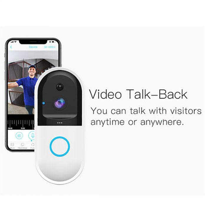 SPY303 - WIFI Smart Doorbell ֆոտոխցիկ, Hisilicon 3518E չիպսեթ, PIR ցուցիչ, Nightvision, երկկողմանի խոսակցություն 08