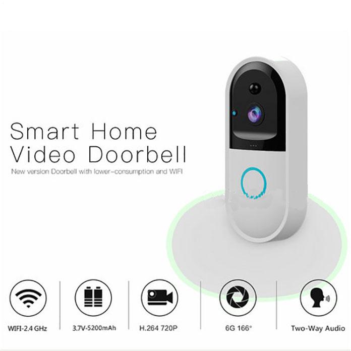 SPY303 - WIFI Smart Doorbell ֆոտոխցիկ, Hisilicon 3518E չիպսեթ, PIR ցուցիչ, Nightvision, երկկողմանի խոսակցություն 12
