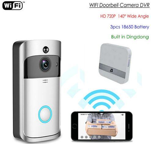 SPY328 - WIFI-video ovikello, laajakuvalinssi - 140degree-kamera yönäkymällä
