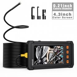 OMG Industrial Borescope / Endoscope 5.5mm, 4.3inch Screen, 2800mAh Batteri halvstyvt rör (3.5m / 5m) [END015]