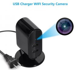 SPY326 - USB-laddare WIFI SPY-kamera